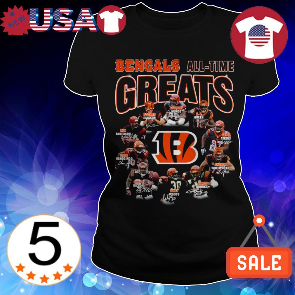 Cincinnati Bengals all time greats team players signatures shirt