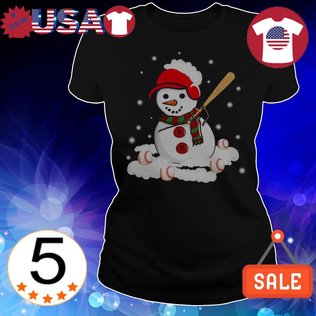 Christmas snowman love baseball sweater