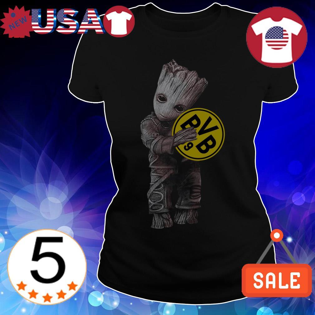Baby Groot hug Borussia Dortmund shirt