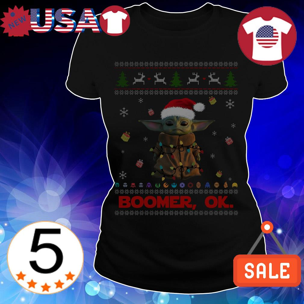 The Mandalorian Baby Yoda Boomer Ok Christmas sweater