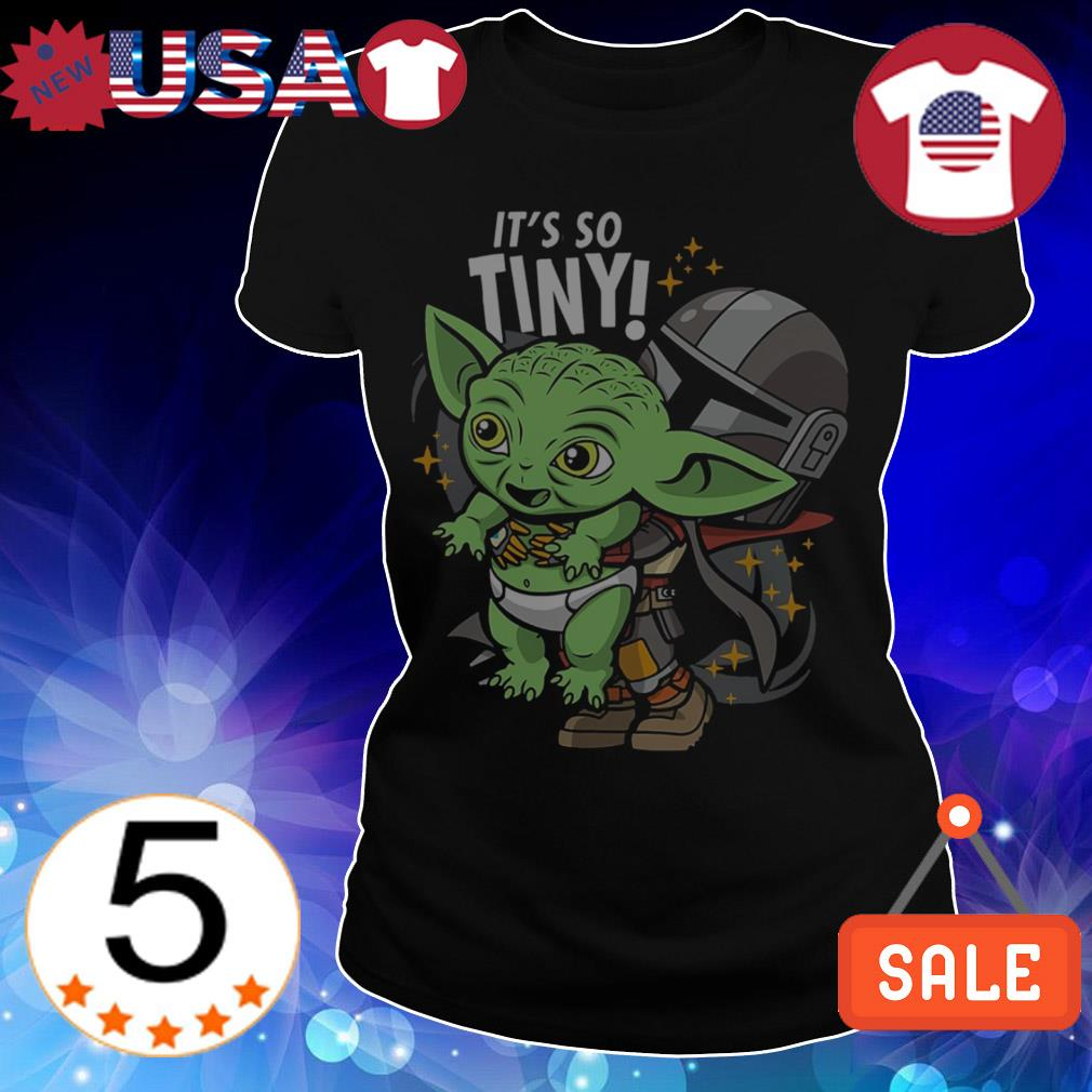 Baby Yoda it's so tiny The Mandalorian Bounty Hunter shirt