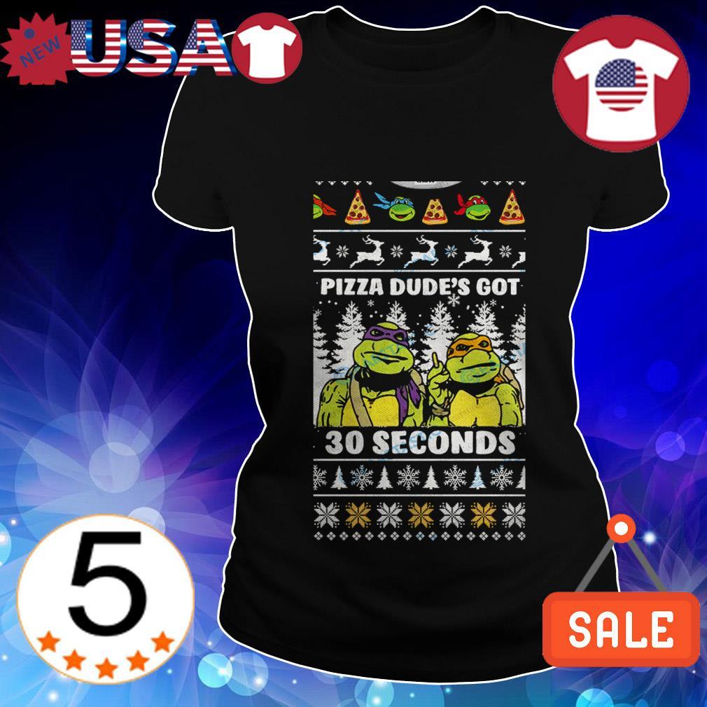 Teenage Mutant Ninja Turtles pizza dude's got 30 seconds Christmas sweater