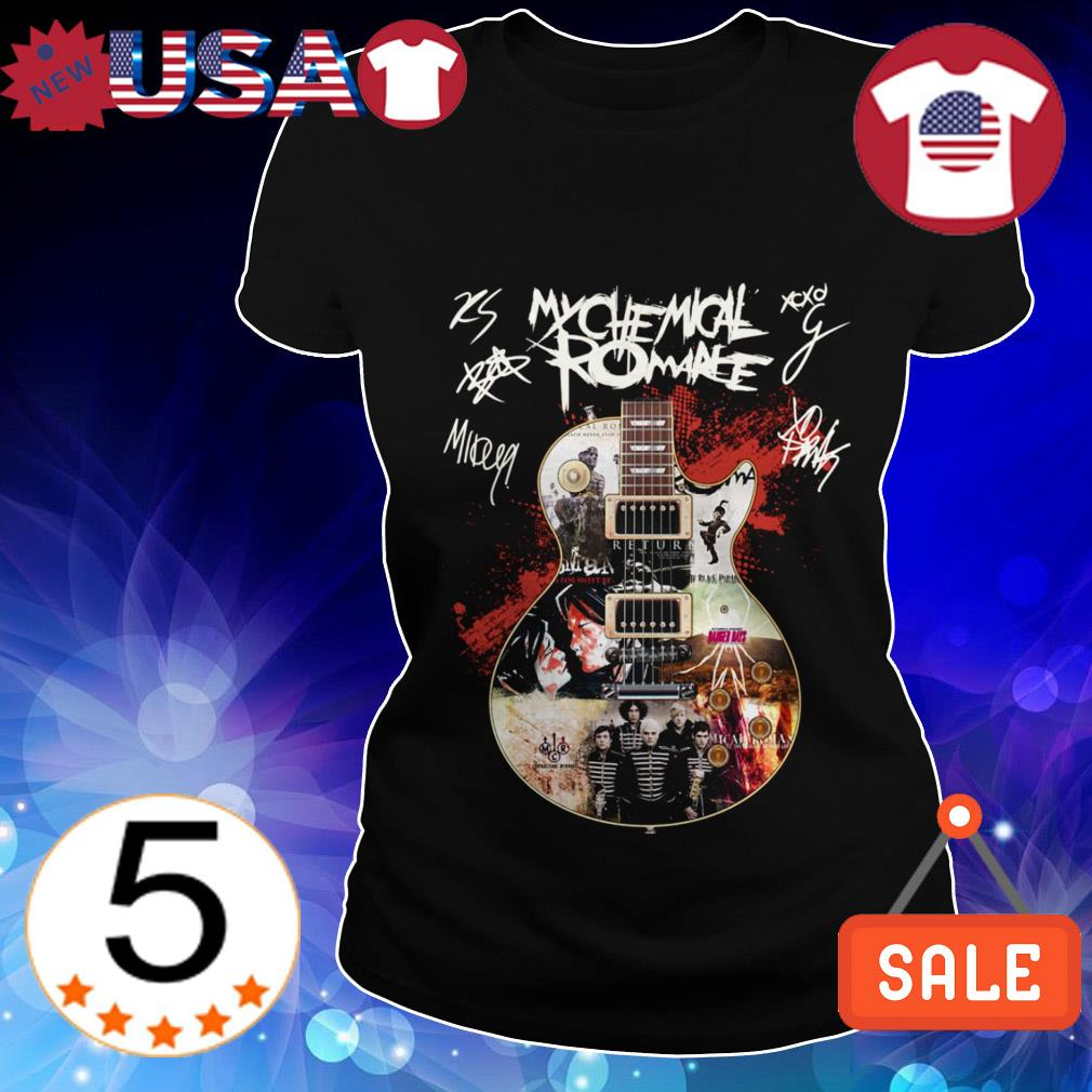 My Chemical Romance guitar signature shirt