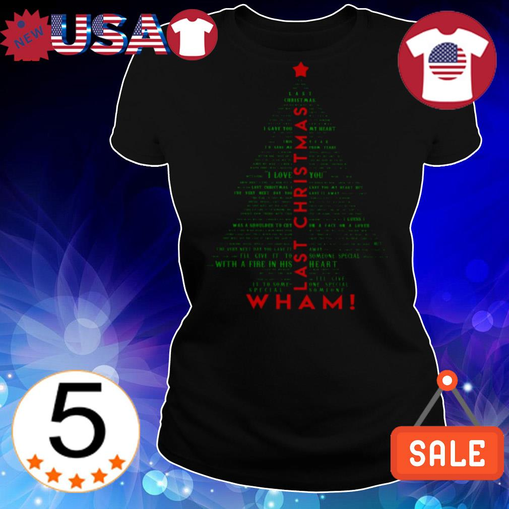 Wham Last Christmas tree pine sweater