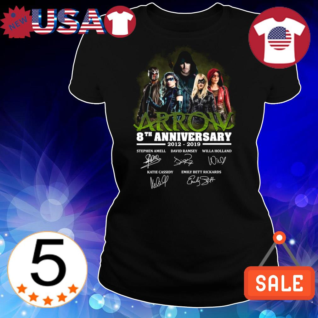 Green Arrow 8th anniversary 2012-2019 signature shirt