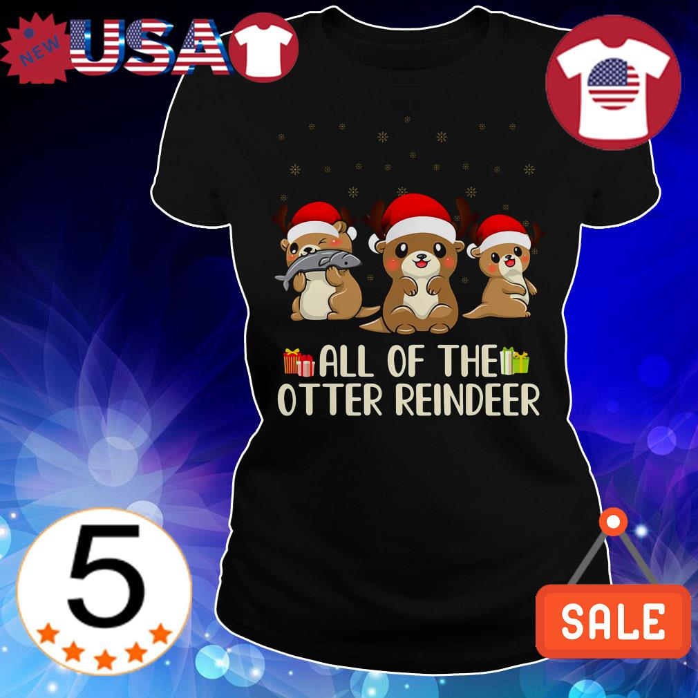 Merry Ottermas all of the otter reindeer Christmas sweater