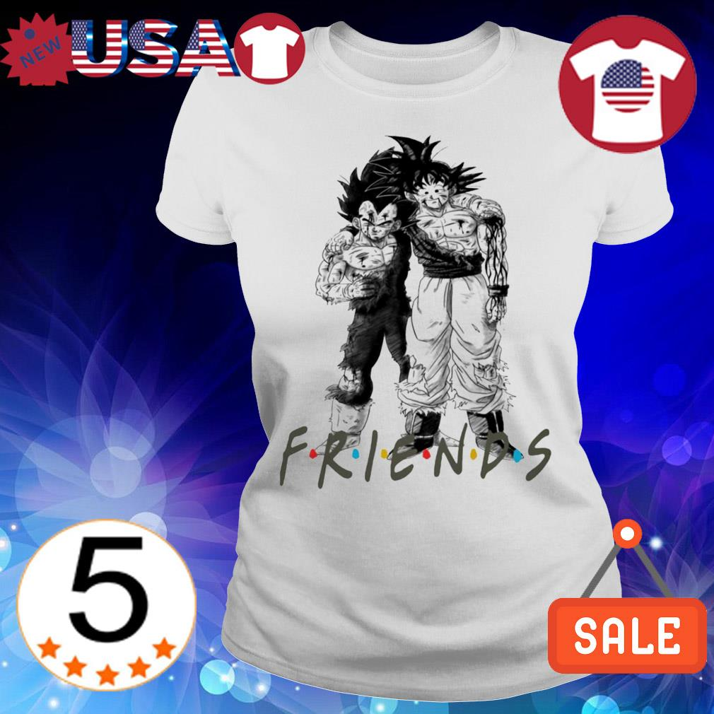 Dragon Ball Goku and Vegeta Friends TV Show shirt