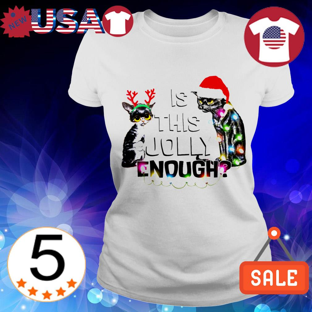 Cats Santa and Reindeer is this jolly enough christmas sweater