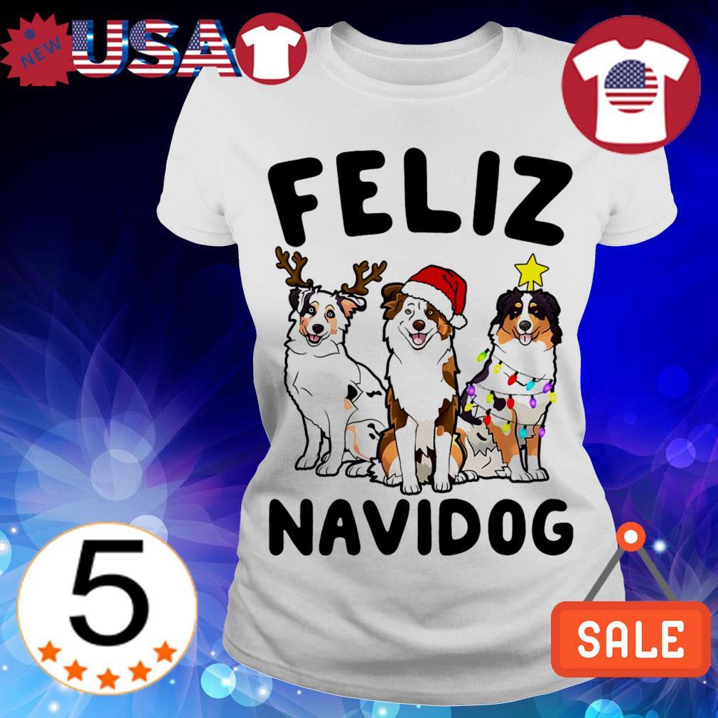 Feliz Navidog Australian Shepherd Crewneck Christmas sweater