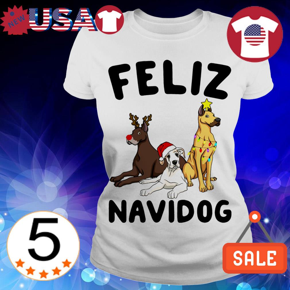 Feliz Navidog Great Dane Crewneck Christmas sweater