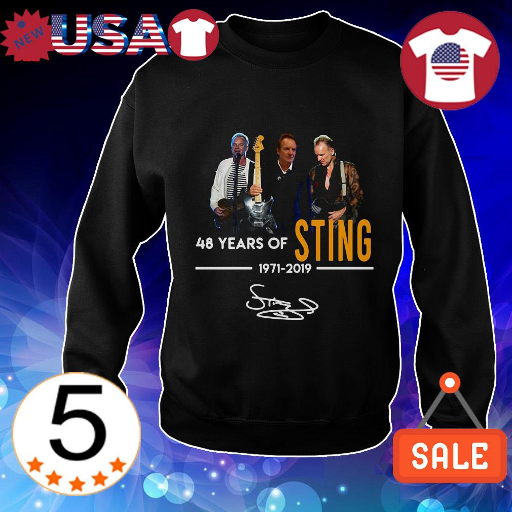 Sting 48 years of 1971 2019 signature shirt