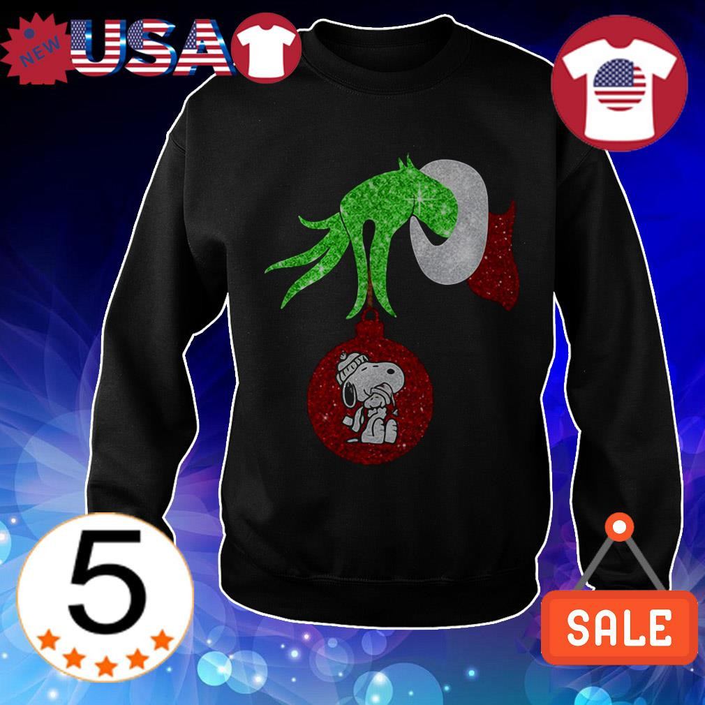 Grinch jingle bells Snoopy Christmas sweater