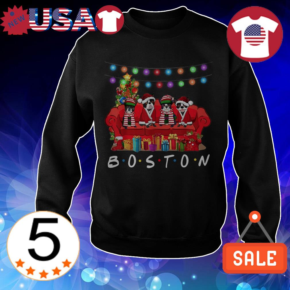 French Bulldog Boston Christmas sweater