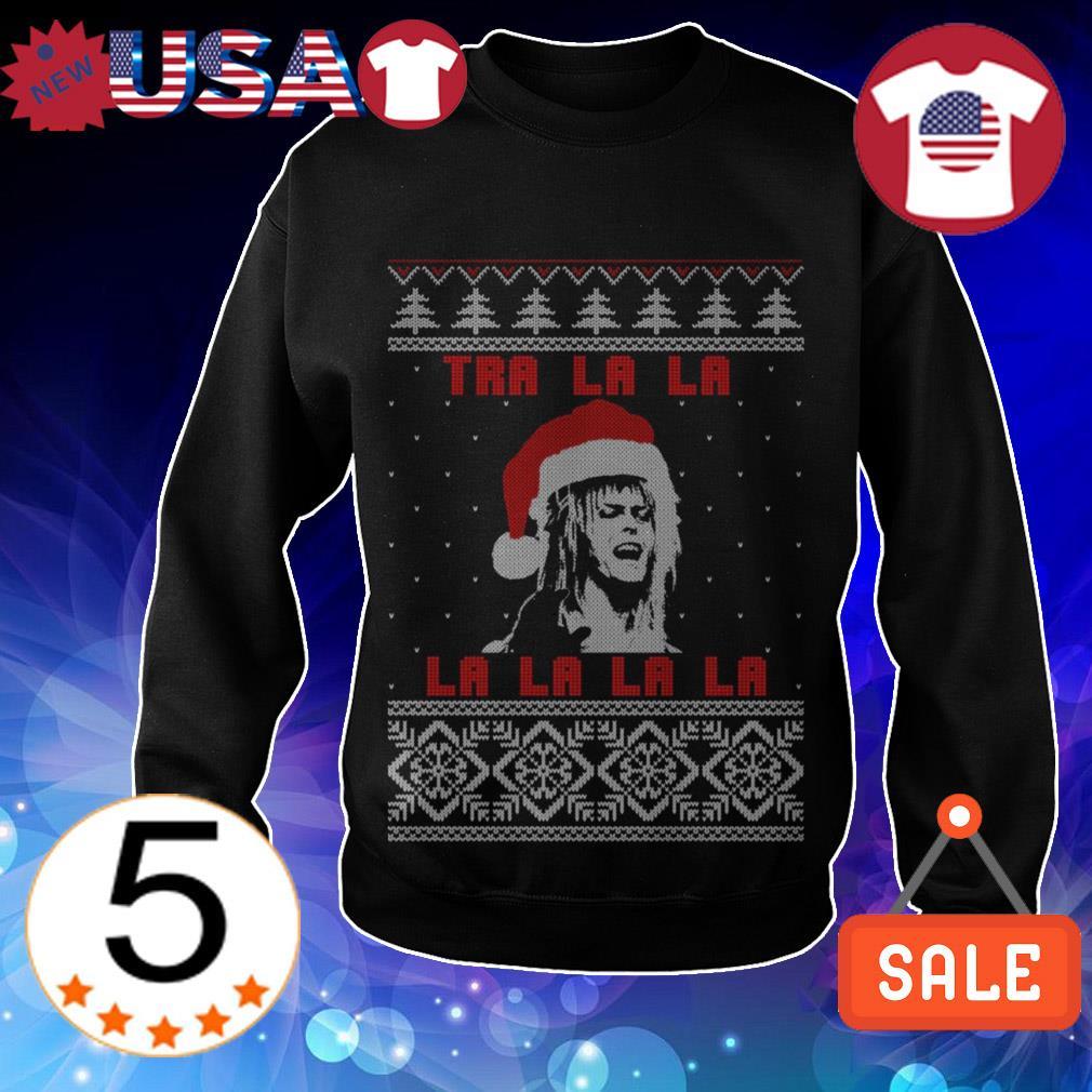 Tra La La La Jareth Labyrinth ugly Christmas sweater