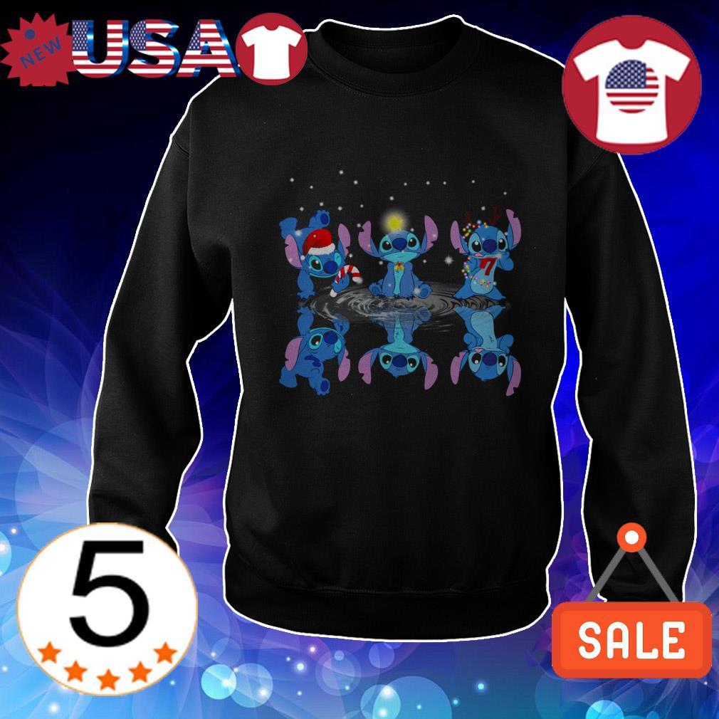 Disney Stitch mirror reflection Christmas sweater