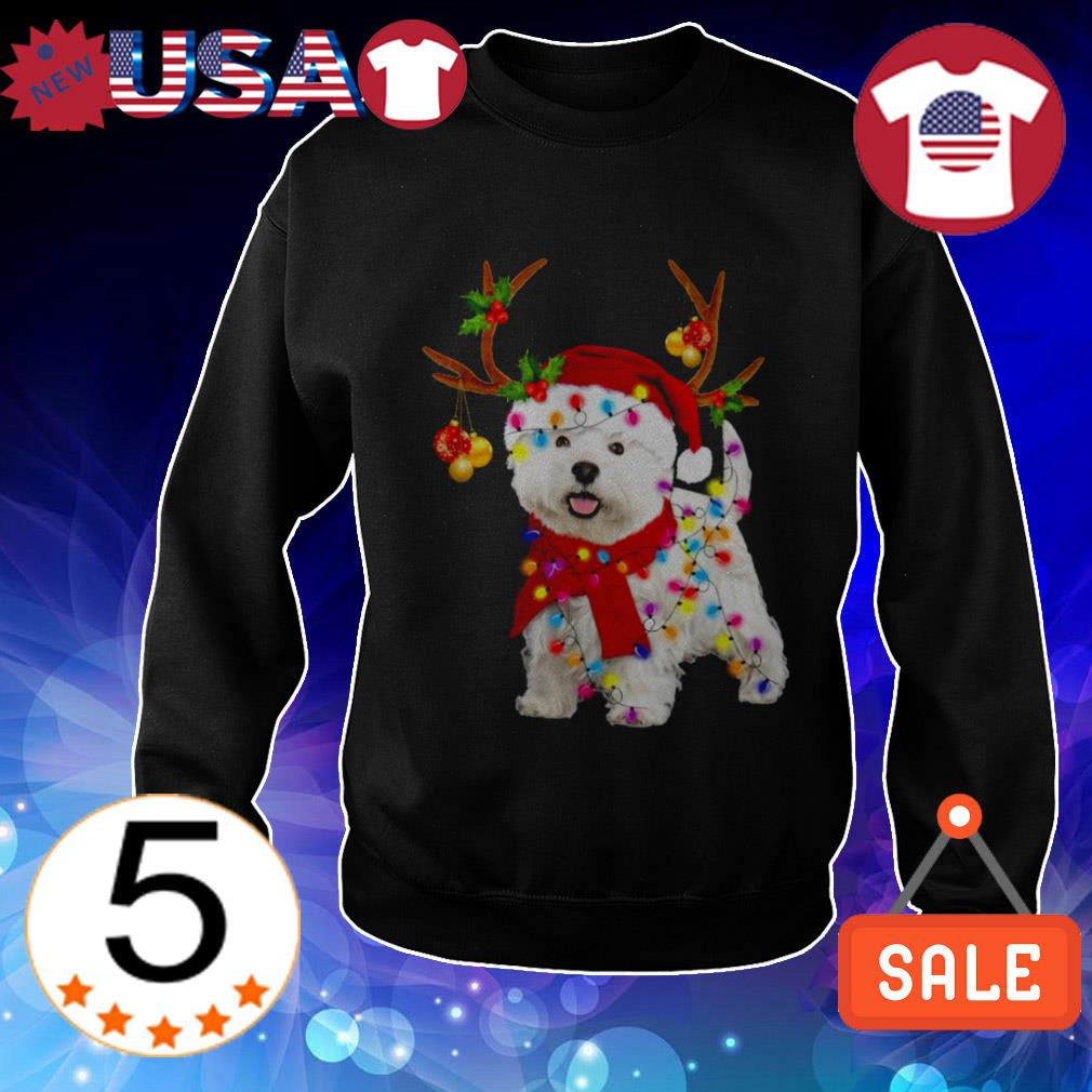 Westie gorgeous reindeer Christmas sweater