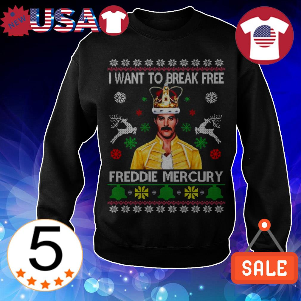 Freddie Mercury i want to break free Christmas sweater