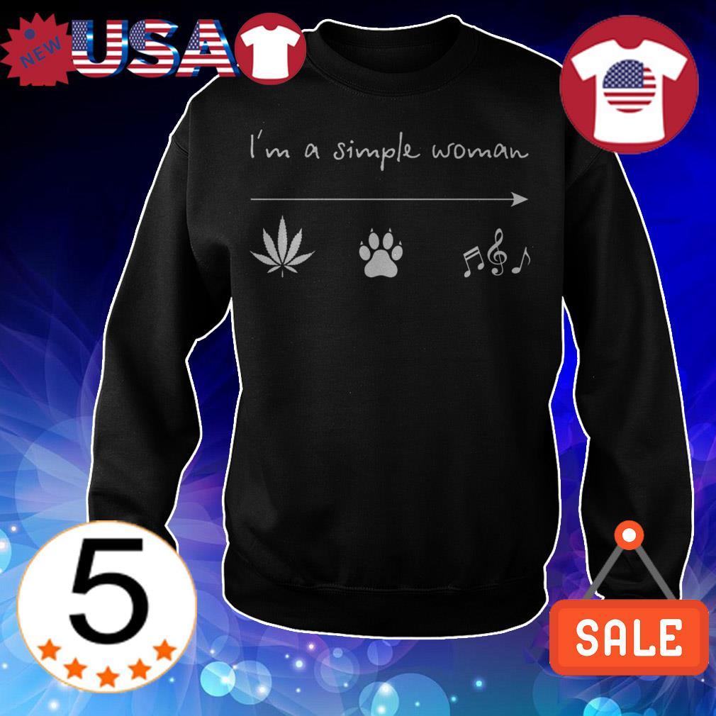 I'm a simple woman weed bear music shirt