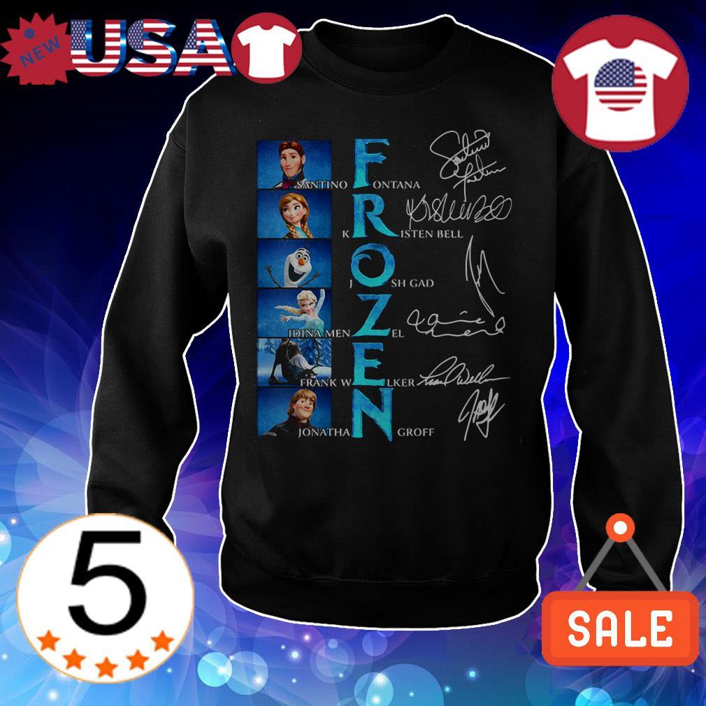 Frozen Santino Fontana Kristen Bell Josh Gad Idina signatures shirt