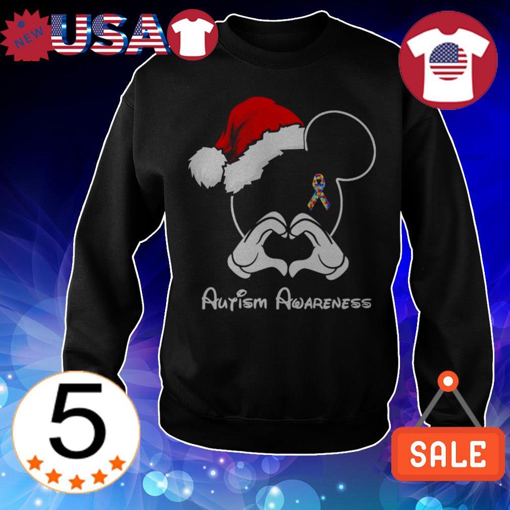 Disney Mickey ears Autism Awareness Christmas sweater