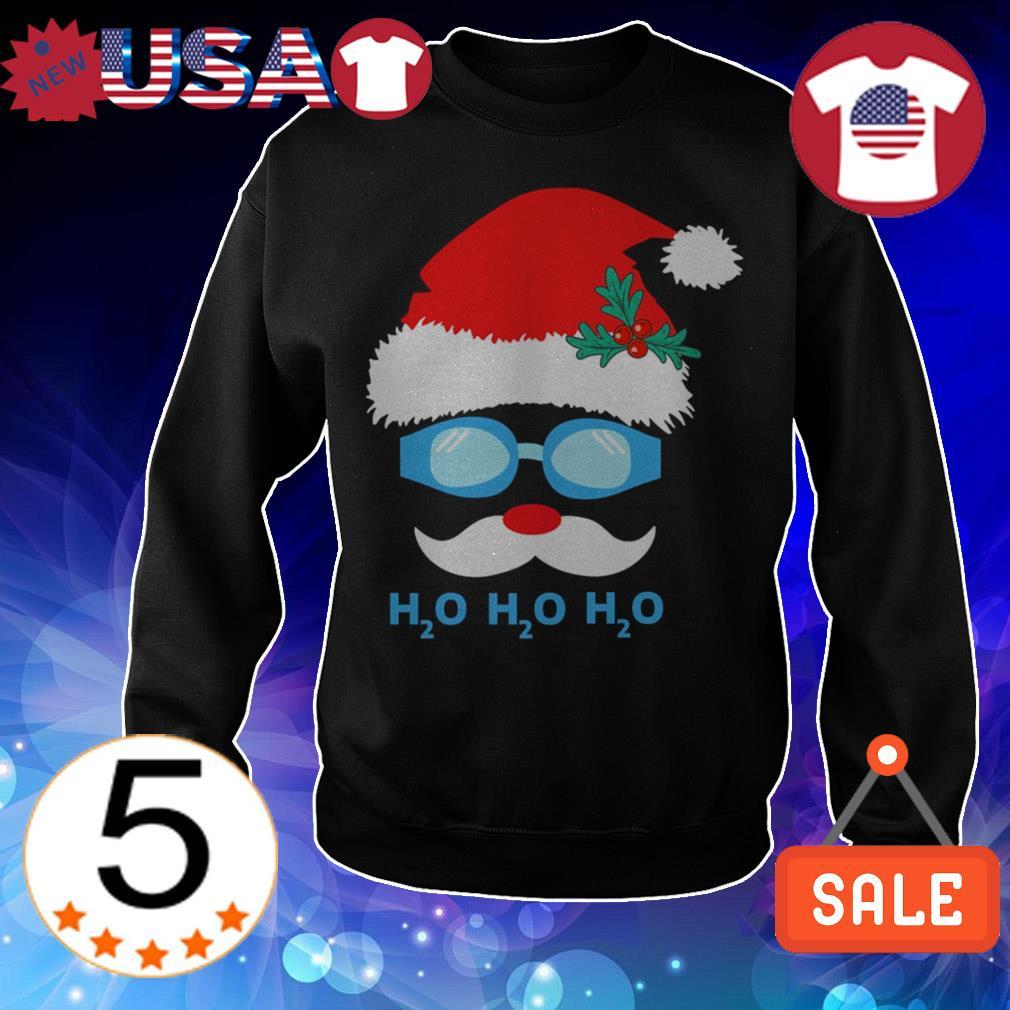 Swimming Santa Claus H2O H2O H2O Christmas sweater