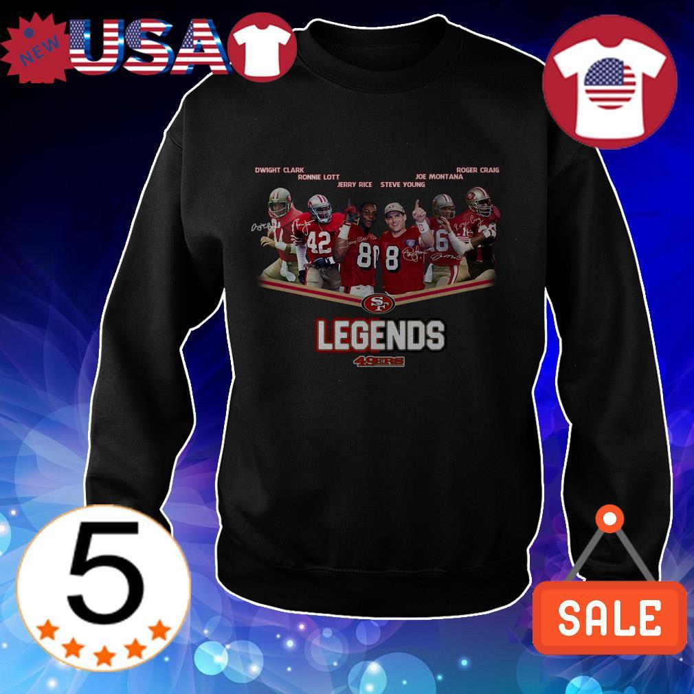San Francisco 49ers Legends players signature shirt