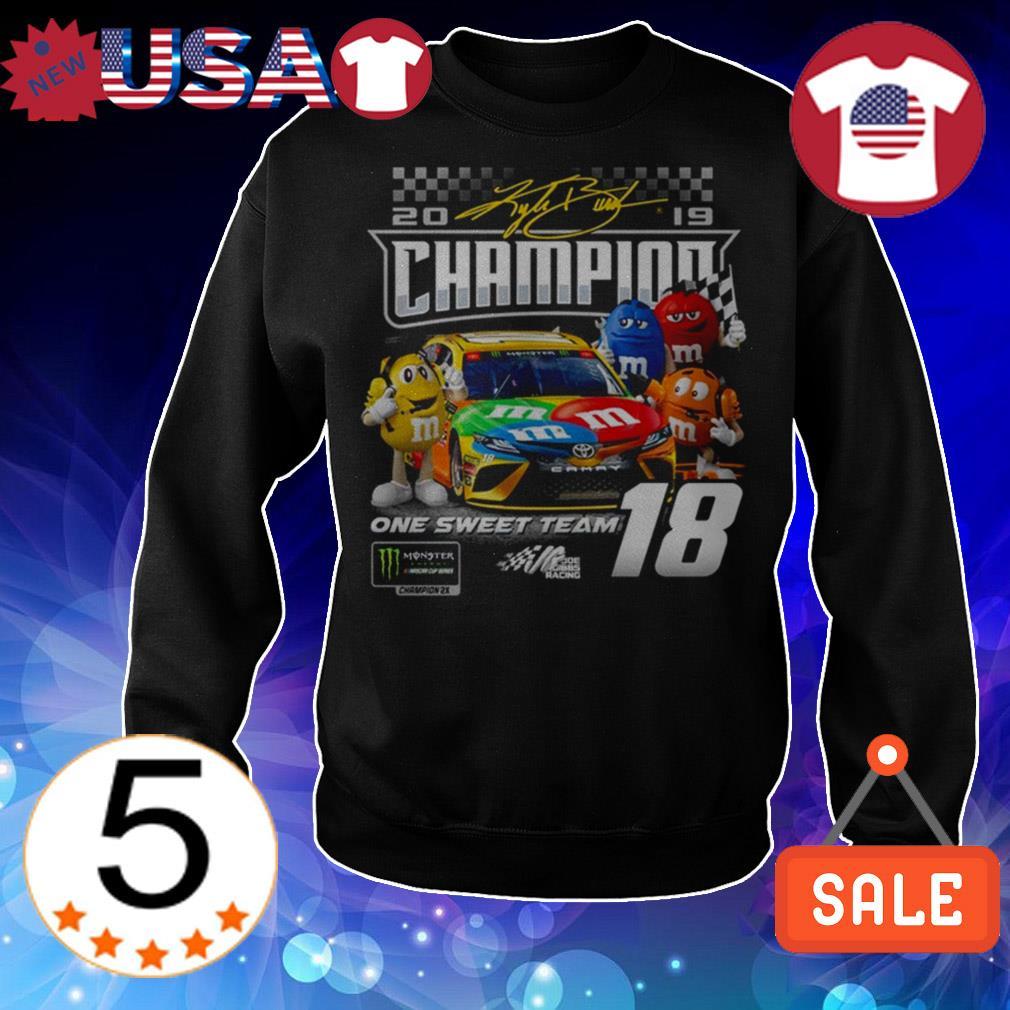 M&M's Kyle Busch Joe Gibbs one sweet team signatures shirt