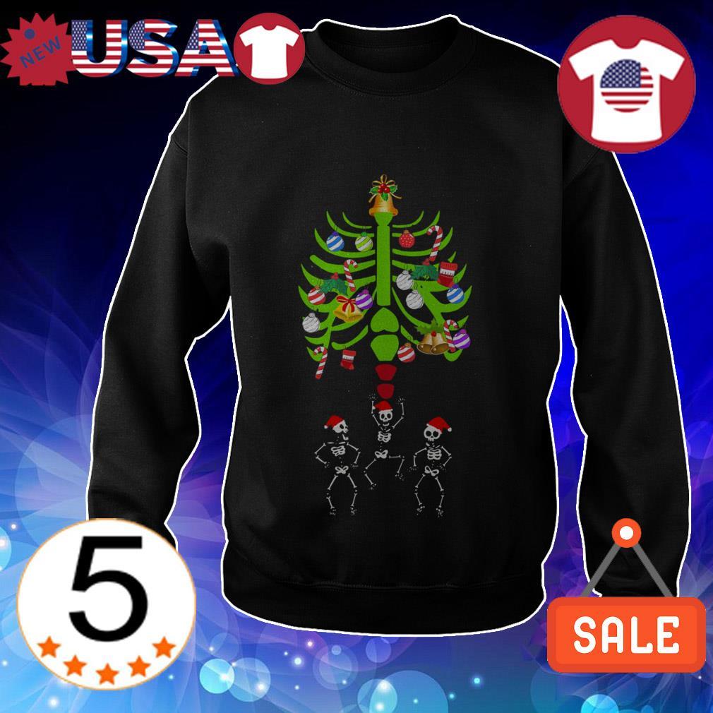 Skeletons Santa Christmas bones tree sweater