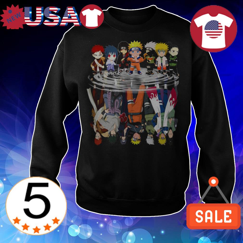 Naruto chibi characters mirror reflection shirt