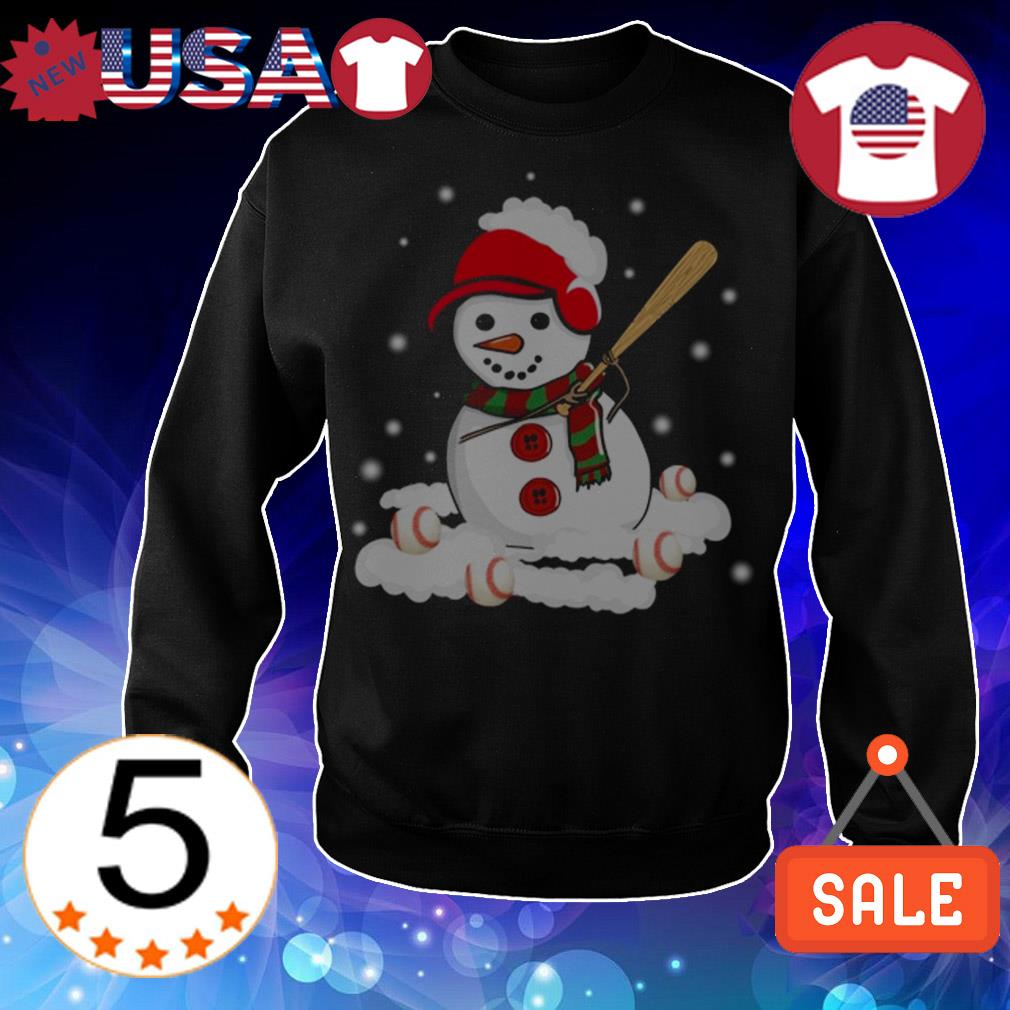 Christmas snowman love baseball sweater