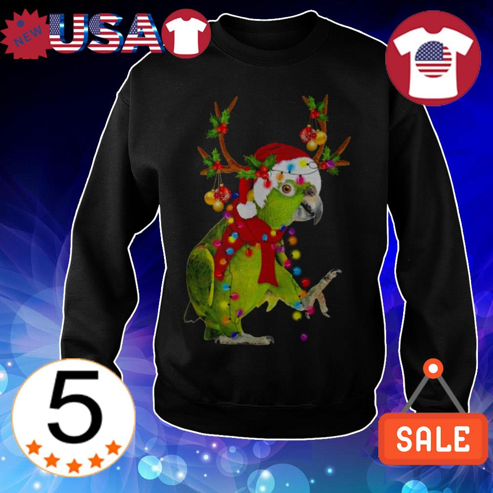 Parrot gorgeous reindeer Crewneck Christmas sweater