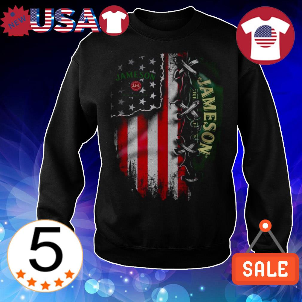Jameson Irish whiskey American flag Independence Day 4th Of July shirt