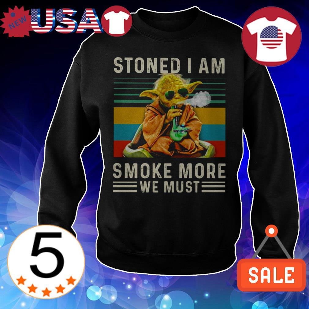 Star Wars Yoda stoned i am smoke more we must vintage shirt