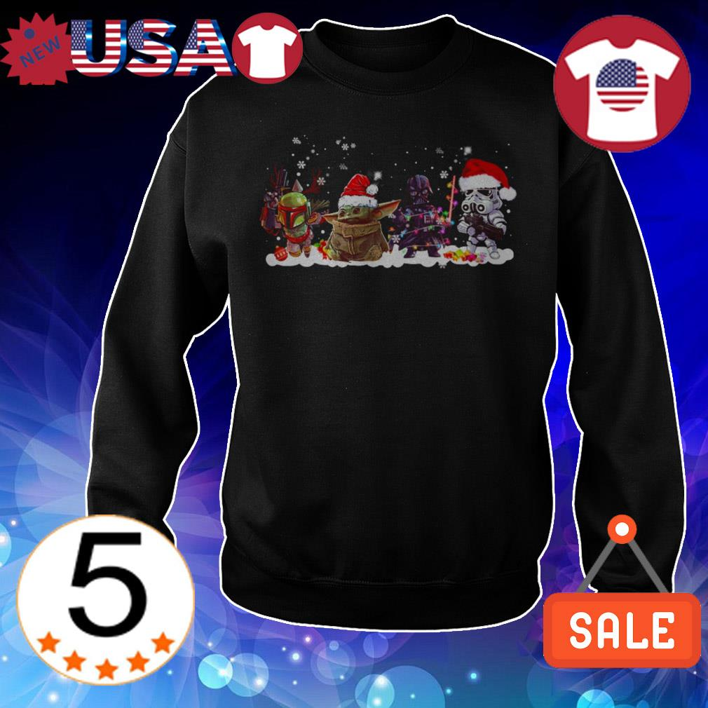 Star Wars chibi characters Christmas sweater