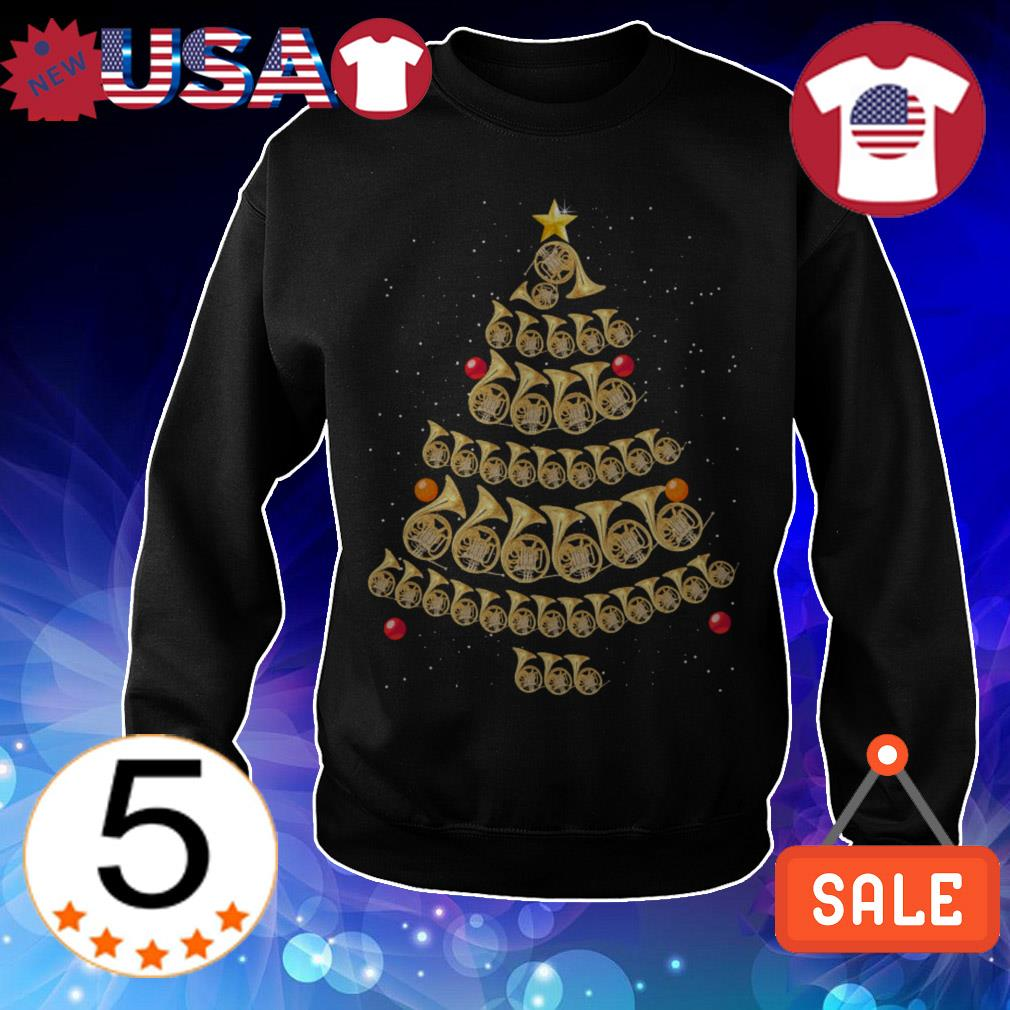 Horn Christmas tree sweater
