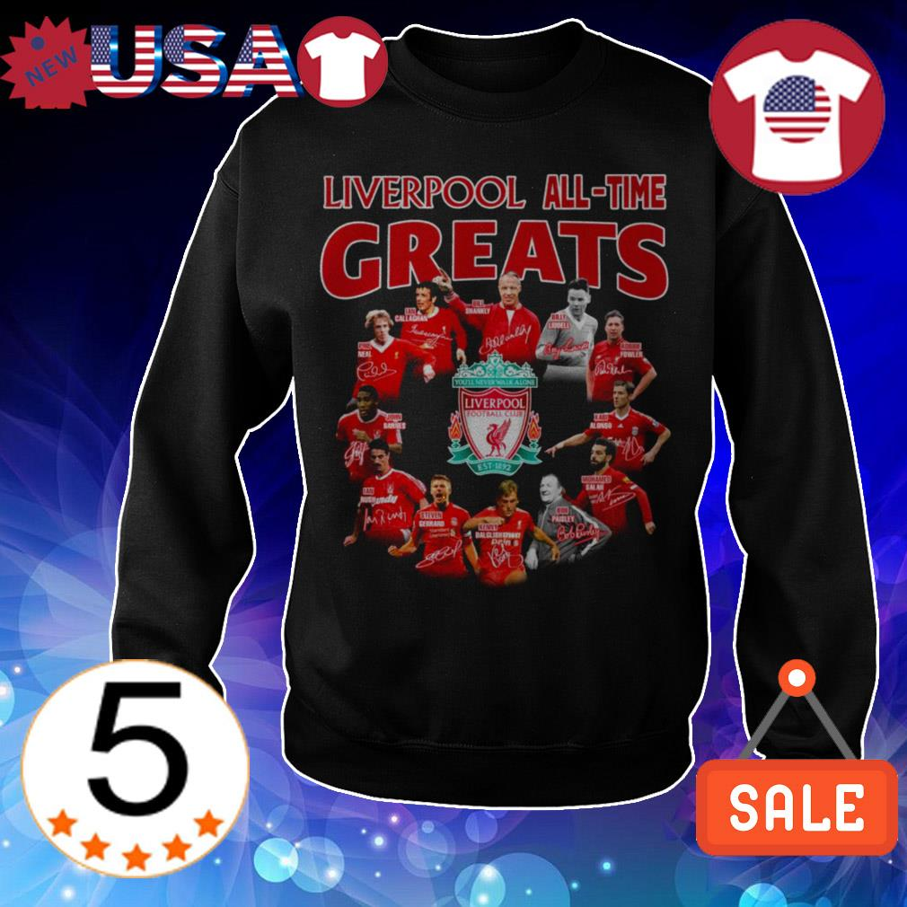Liverpool Football Club all time greats team players signatures shirt