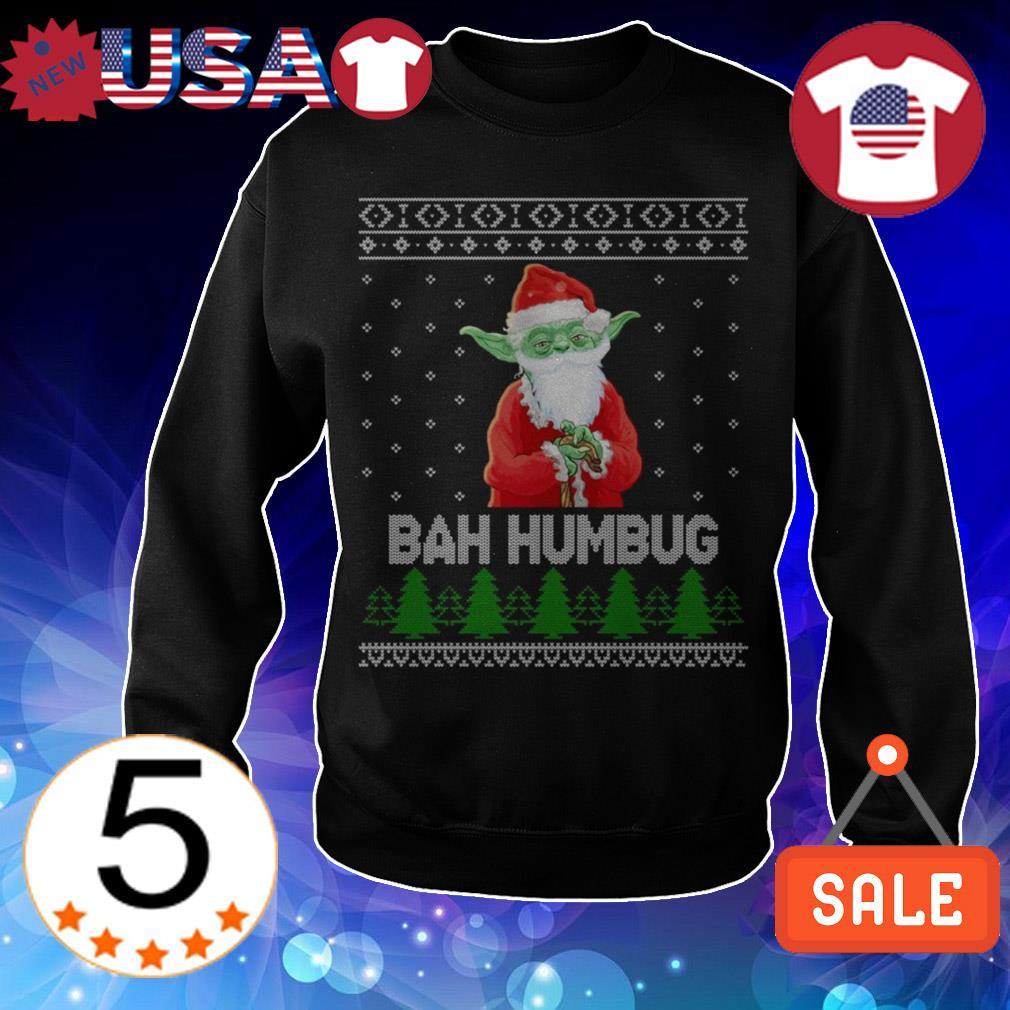 Star Wars Santa Yoda bah humbug Christmas sweater