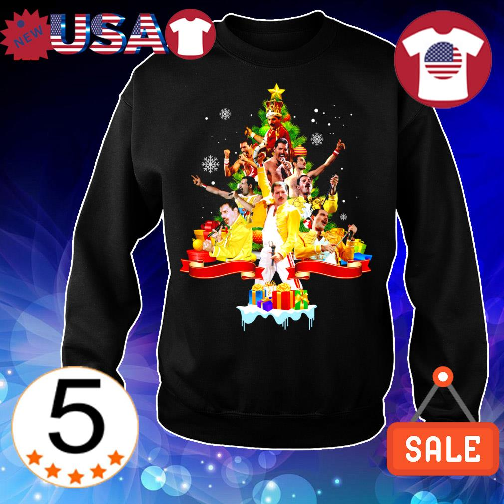 Freddie Mercury Christmas tree sweater