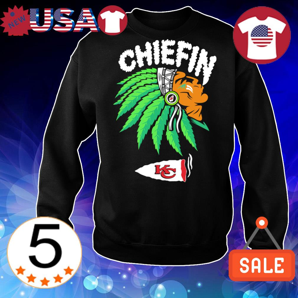 Kansas City Chiefs Chiefin weed smoking Indian shirt