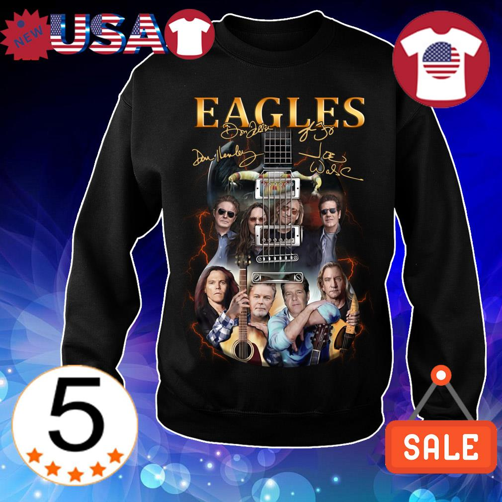 Guitar Eagles Rock Band signature shirt