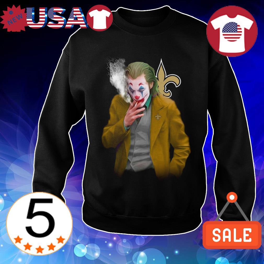 Joker Joaquin Phoenix New Orleans Saints shirt