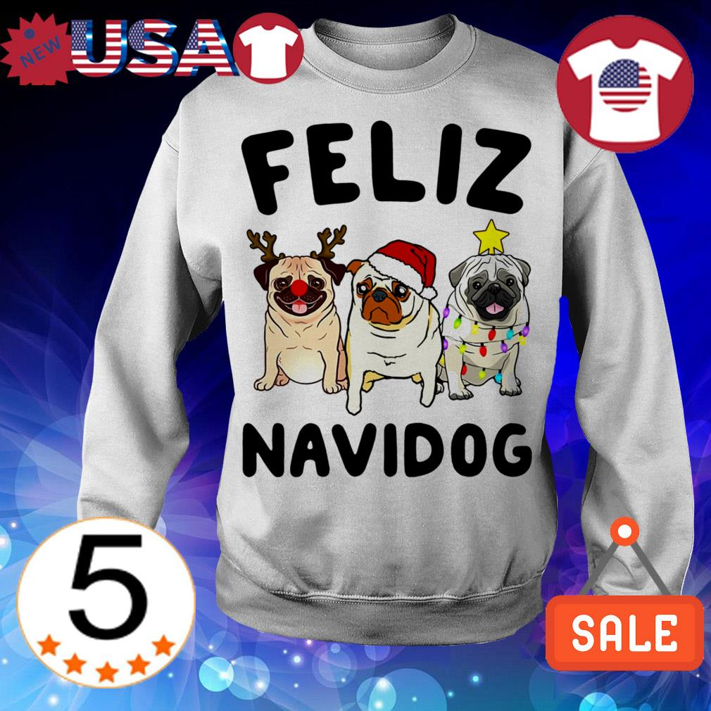 Feliz Navidog Pug Crewneck Christmas sweater