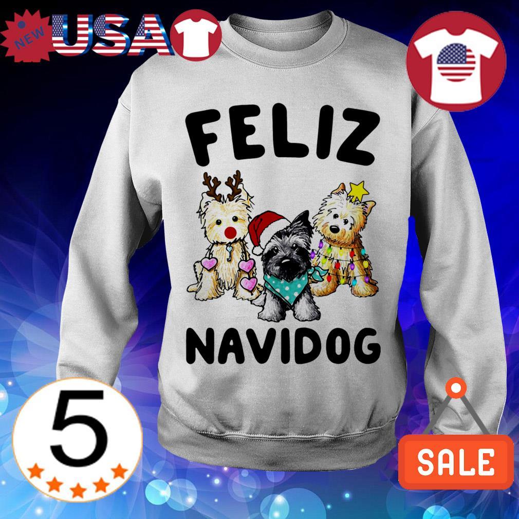 Feliz Navidog Cairn Terrier Dog Crewneck Christmas sweater
