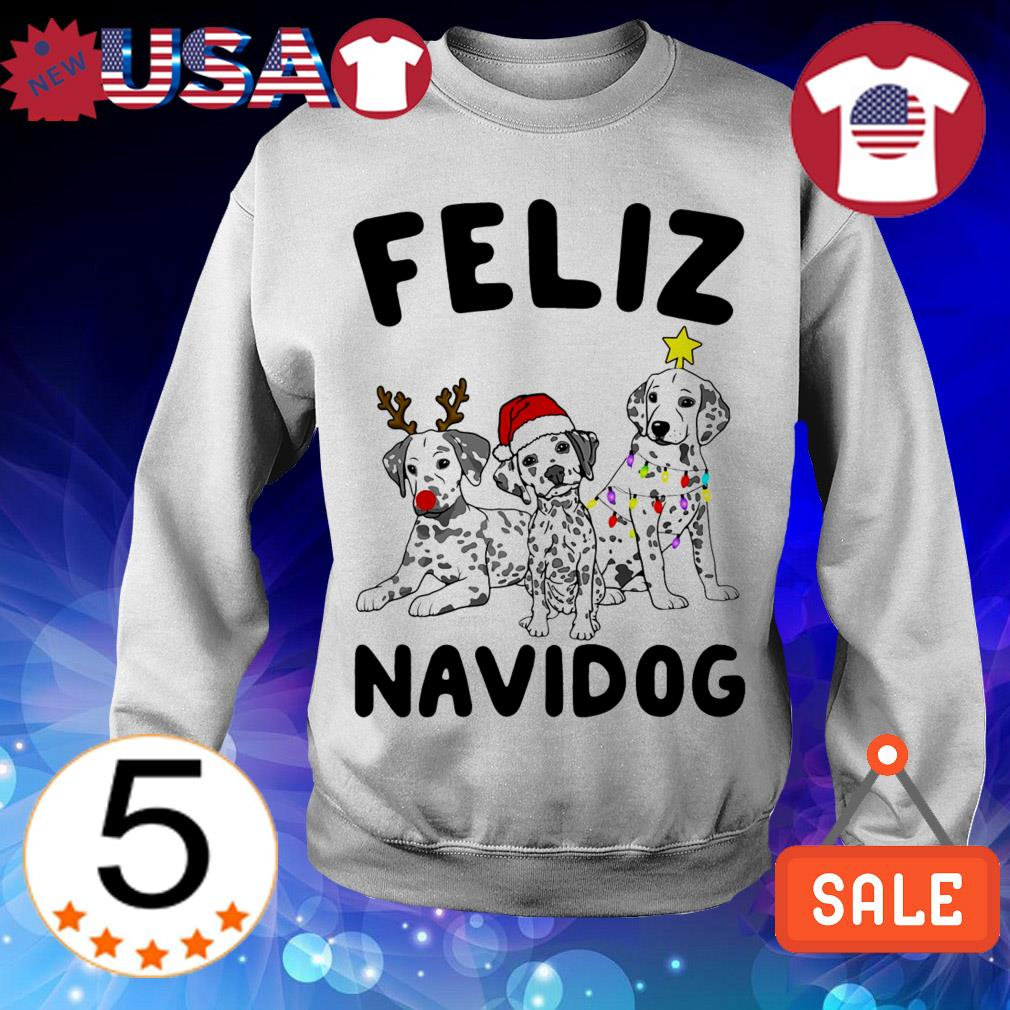 Feliz Navidog Dalmatian Dog Crewneck Christmas sweater
