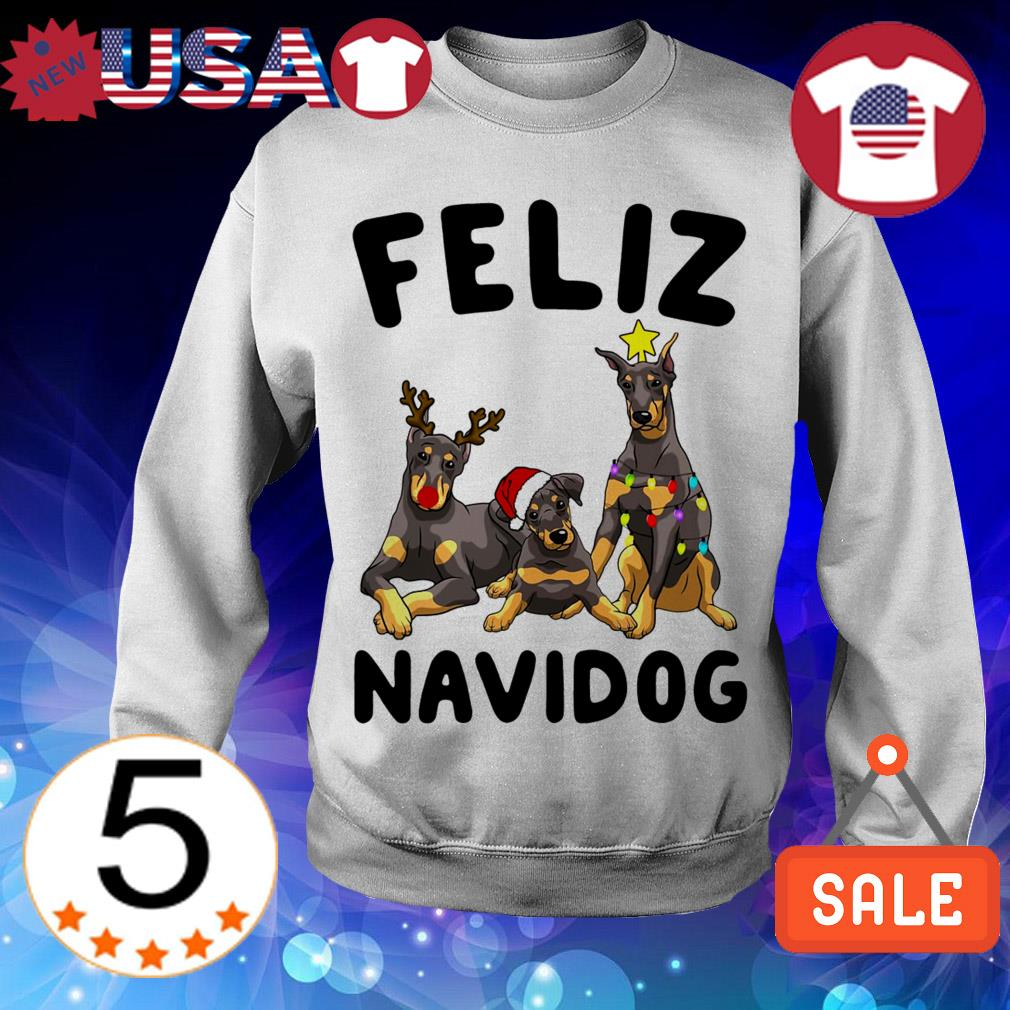 Feliz Navidog Doberman Pinscher Crewneck Christmas sweater