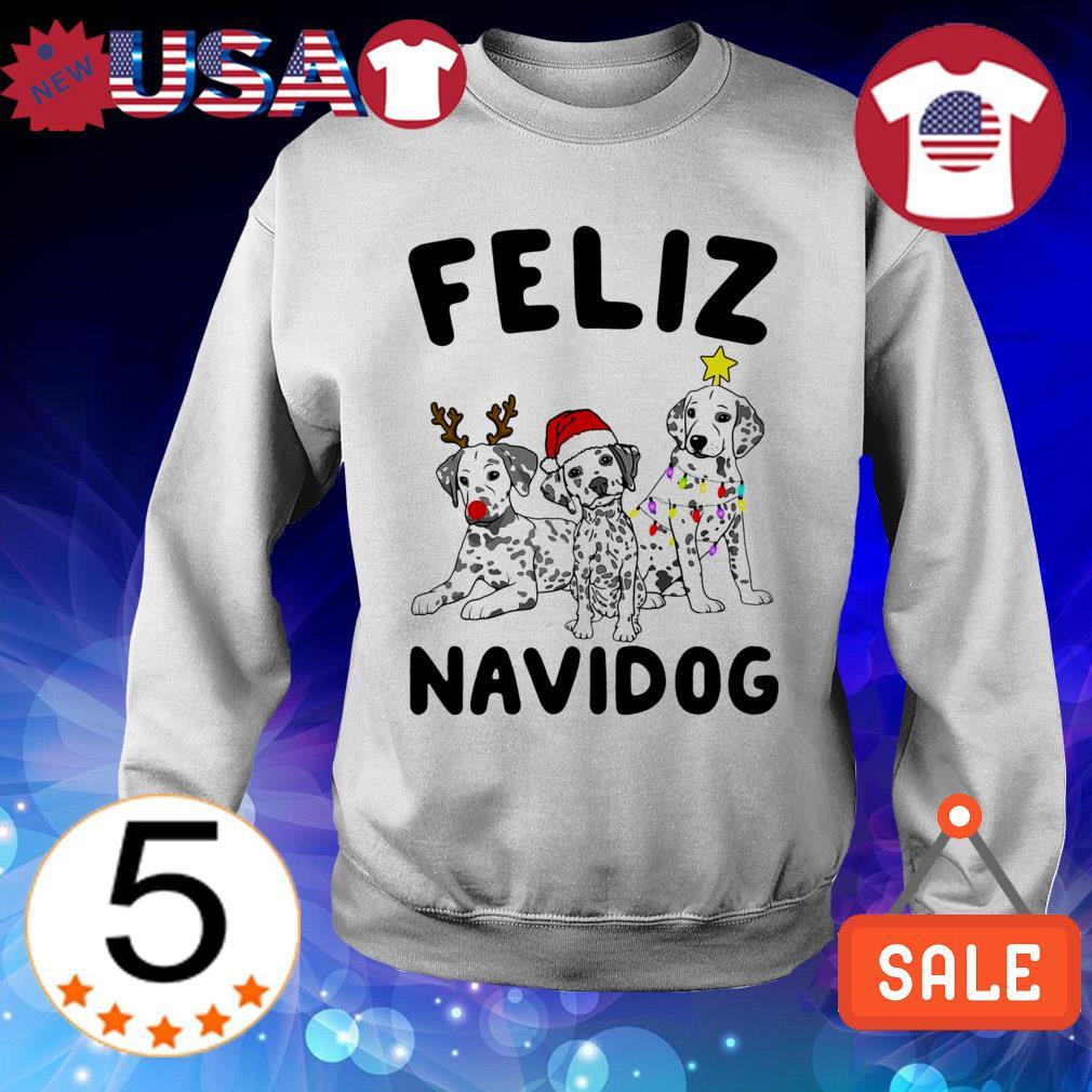 Feliz Navidog Dalmatian Dog Crewneck Christmas sweater