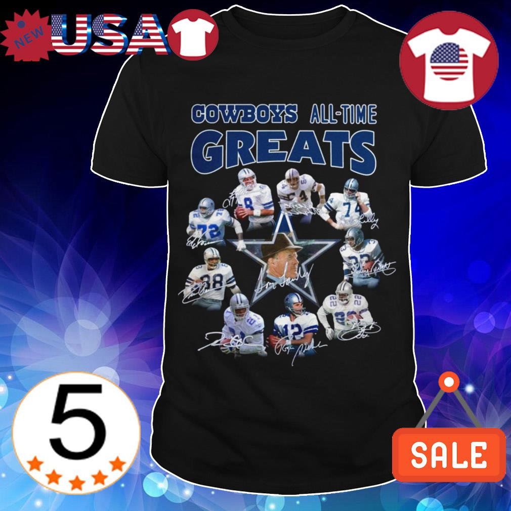 Dallas Cowboys all time greats team players signature shirt