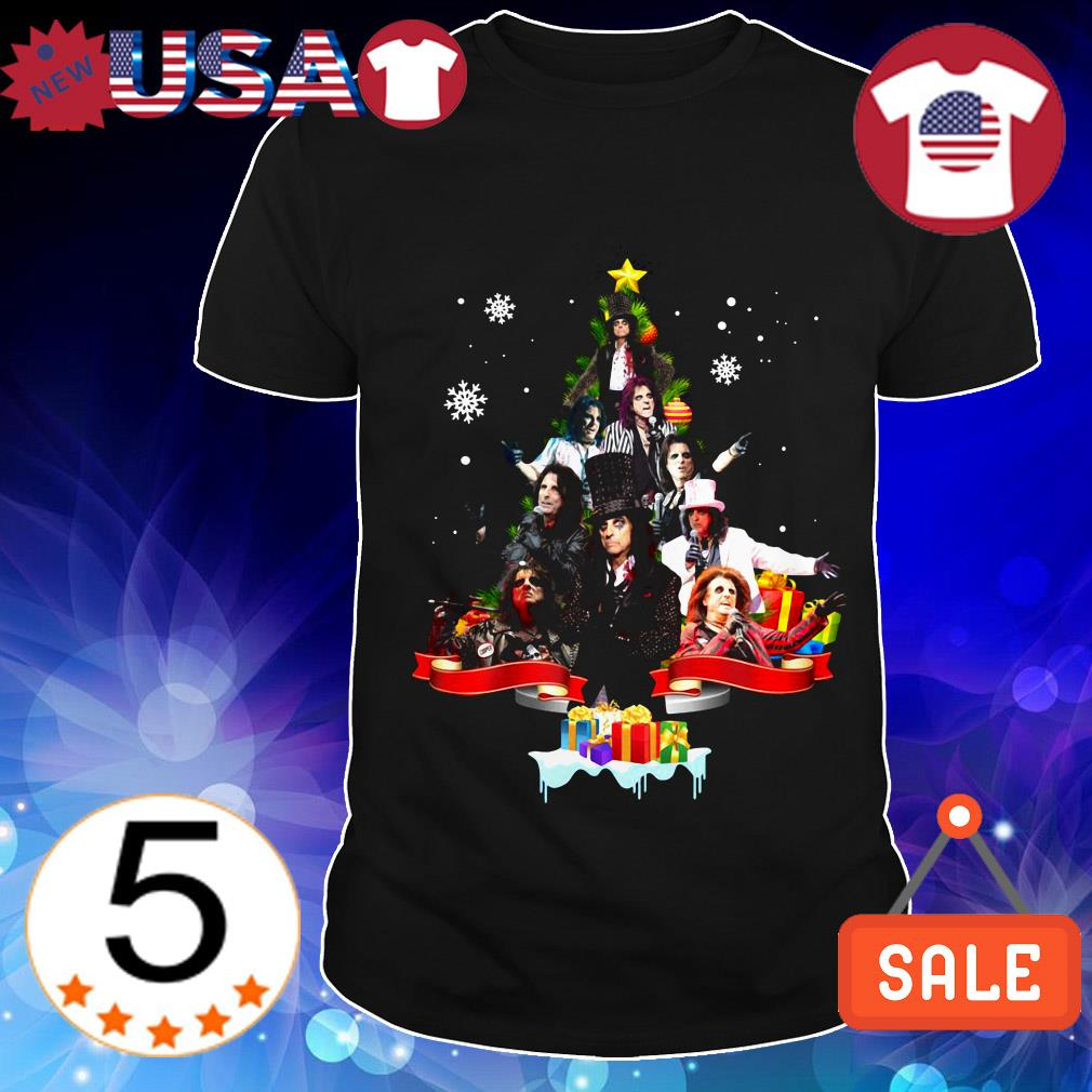 Alice Cooper Christmas tree sweater