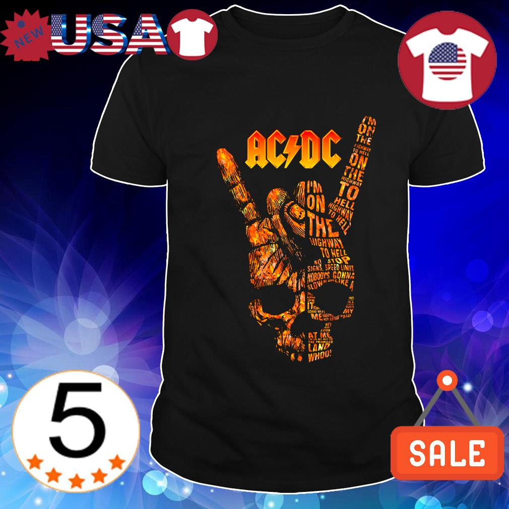 ACDC Rock Band I'm on the highway to hell shirt