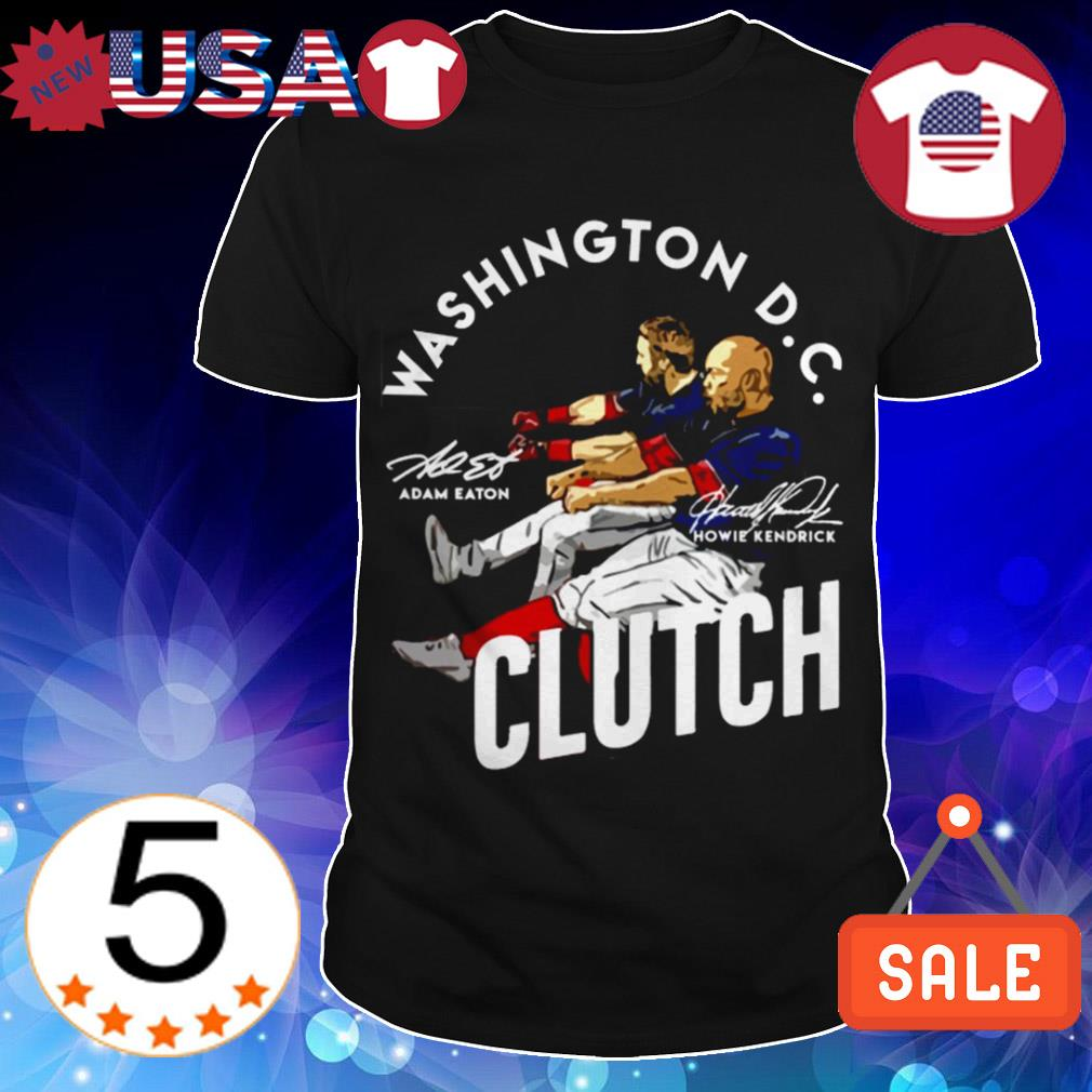Adam Eaton Howie Kendrick Washington DC Clutch signature shirt